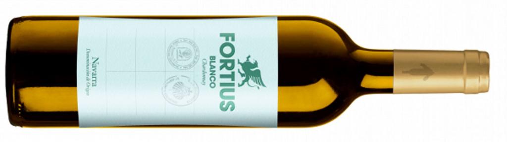 Chardonnay, variedad uva, Botella vino Fortius Blanco Chardonnay