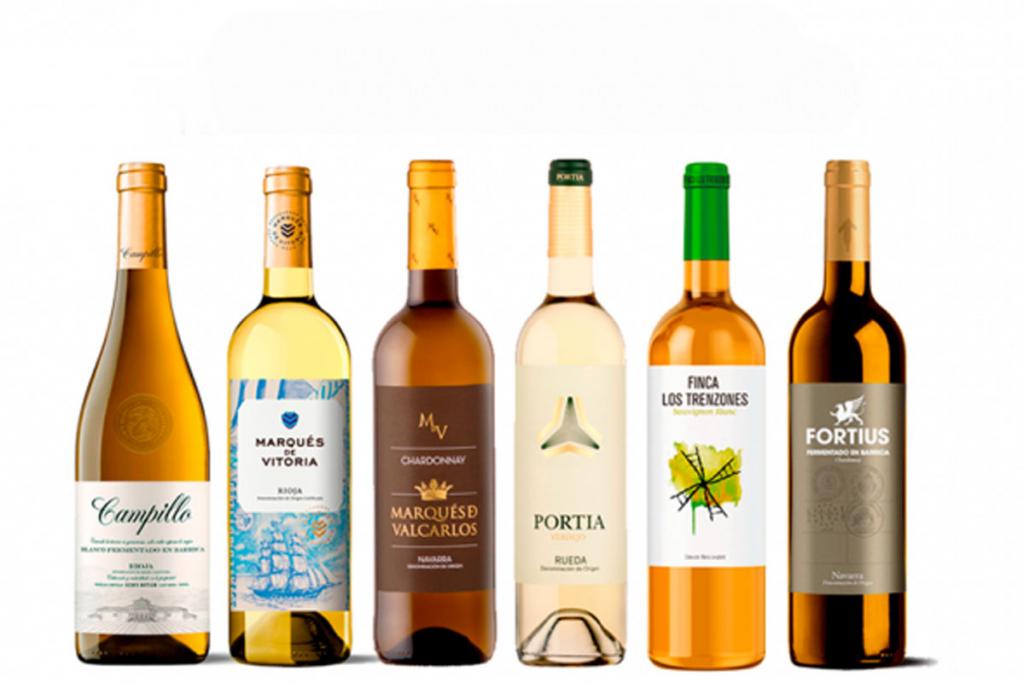 Grupo Faustino, selección vinos blancos, Chardonnay, Viura