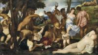Vino y arte, Tiziano, Bacanal de andrios