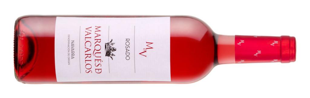Setas y vino, Botella Marques de Valcarlos Rosado