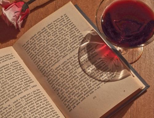 Feliz día del libro; uva, viñedo, libro y pasiones