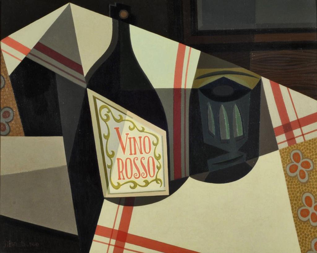 Cubismo y vino, Emilio Pettoruti, Vino Rosso