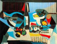 Cubismo y vino, Pablo Picasso, La botella de vino