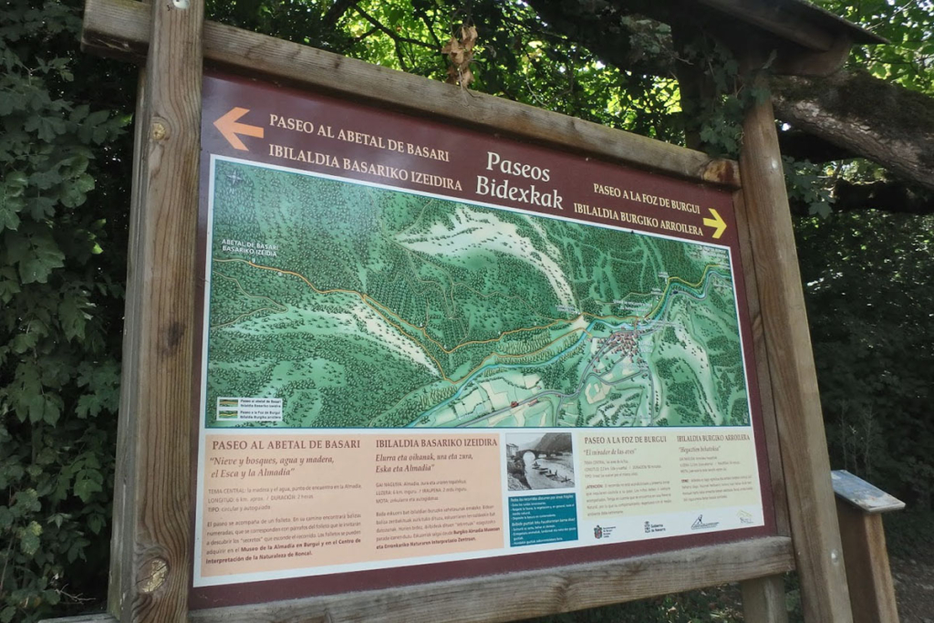 Cuatro sitios de Picnic en Navarra, Foz de Burgui y abetal Basari