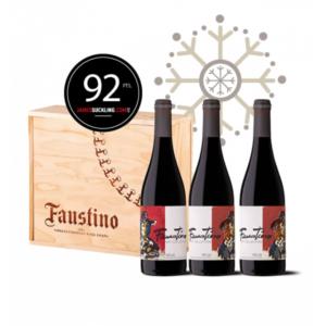 Ideas Faustino para Navidad, regala botella vino Navidad, Botellas Faustino Art Collection Edición Limitada Willy Ramos