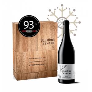 Ideas Faustino para Navidad, regalar vino Navidad, Botella vino Faustino & Eneko