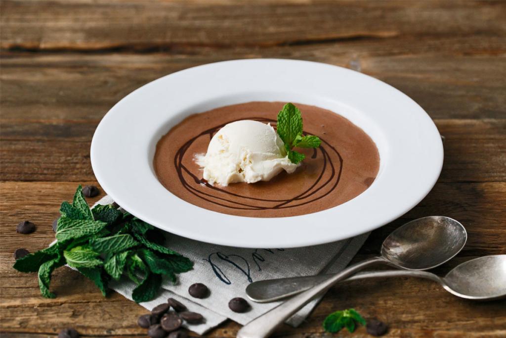 Reposteria caliente y vino, Sopa chocolate caliente