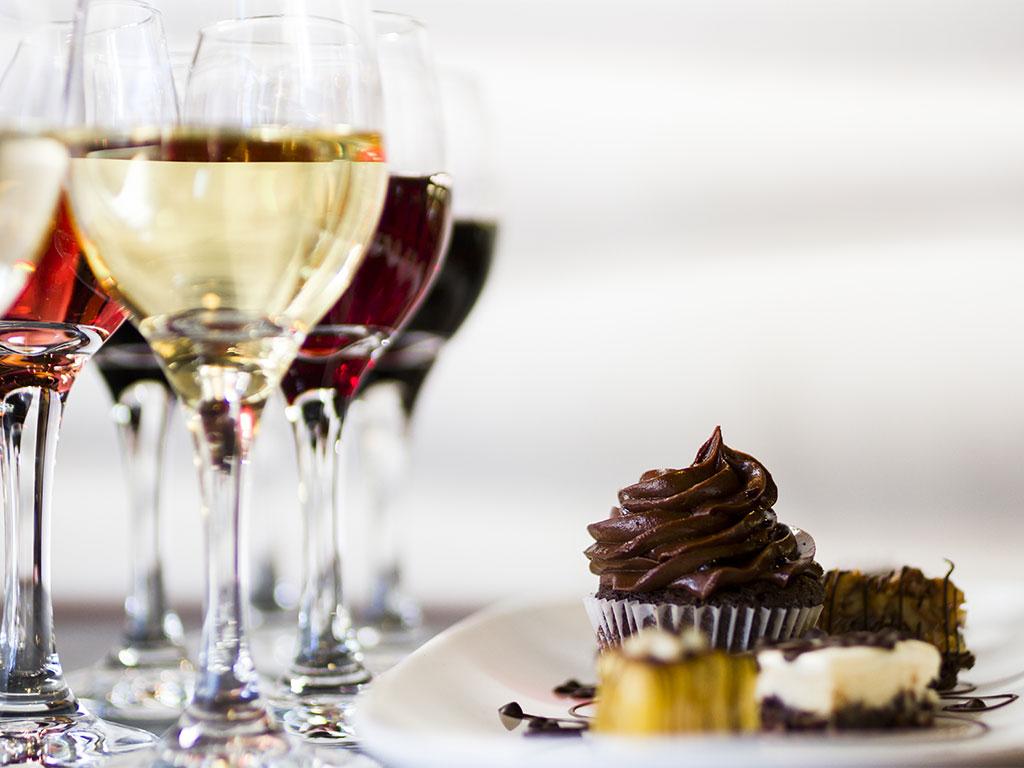 Dulces con mucho vino