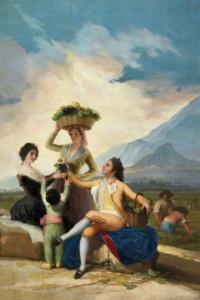 El vino en los museos, Francisco de Goya, La Vendimia, Serie de Las Cuatro Estaciones, Museo del Prado