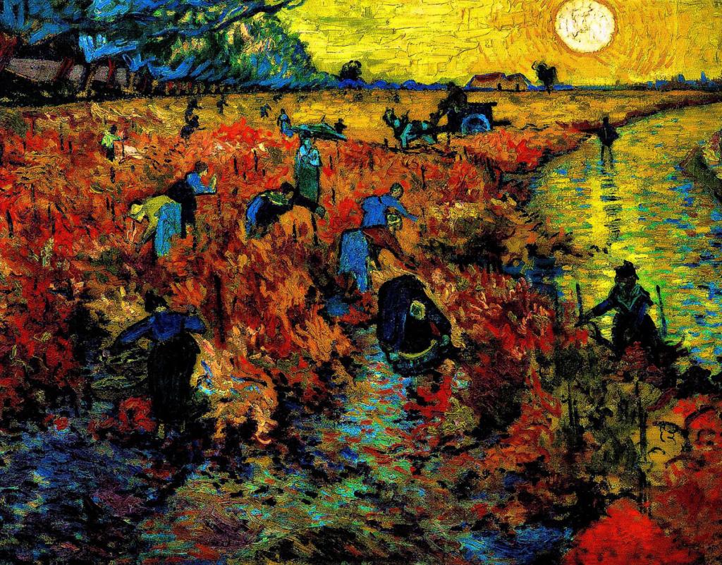 El vino en los museos, Vincent Van Gogh, El viñedo Rojo,Museo Pushkin de Moscú