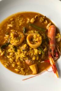 Arroces de otoño, arroz caldoso de marisco