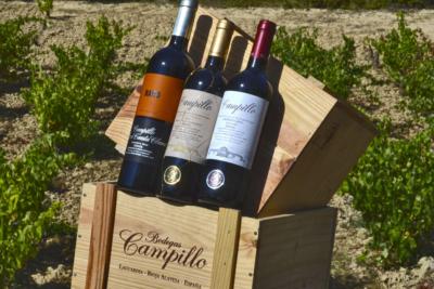 Tienda Faustino, Caja botellas vino Bodegas Campillo