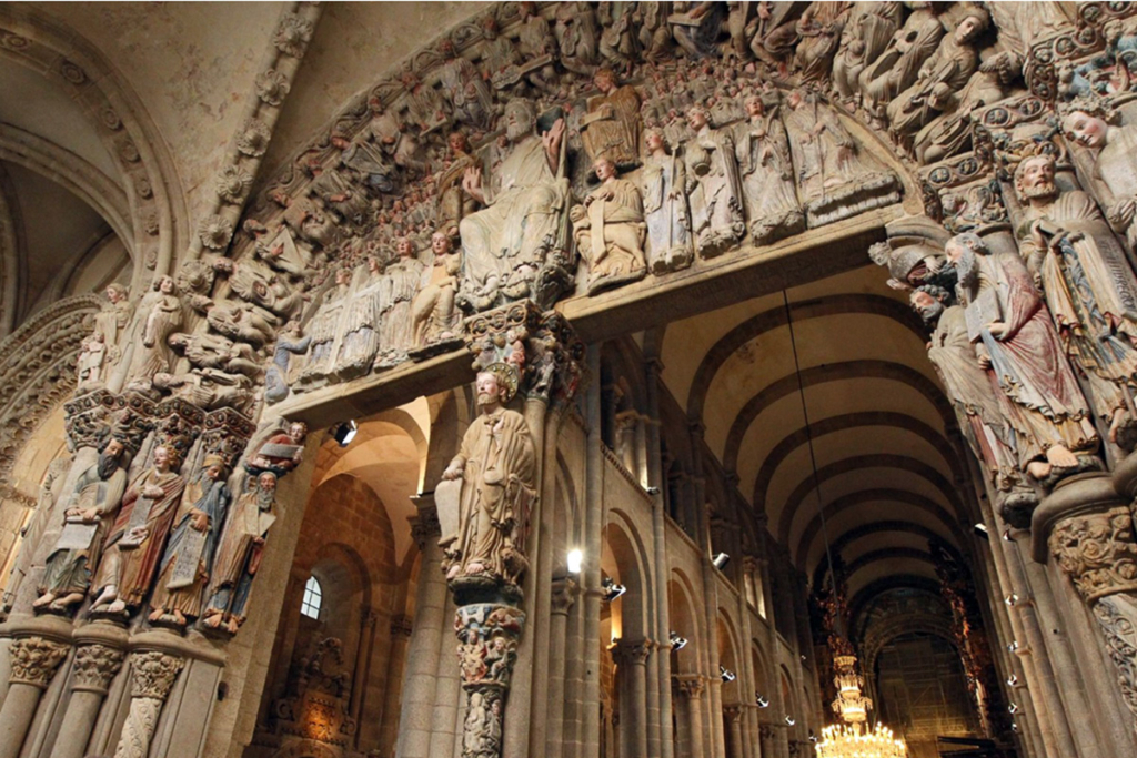 Diez monumentos emblemáticos españoles - primera parte, Catedral de Santiago, Santiago de Compostela, A Coruña