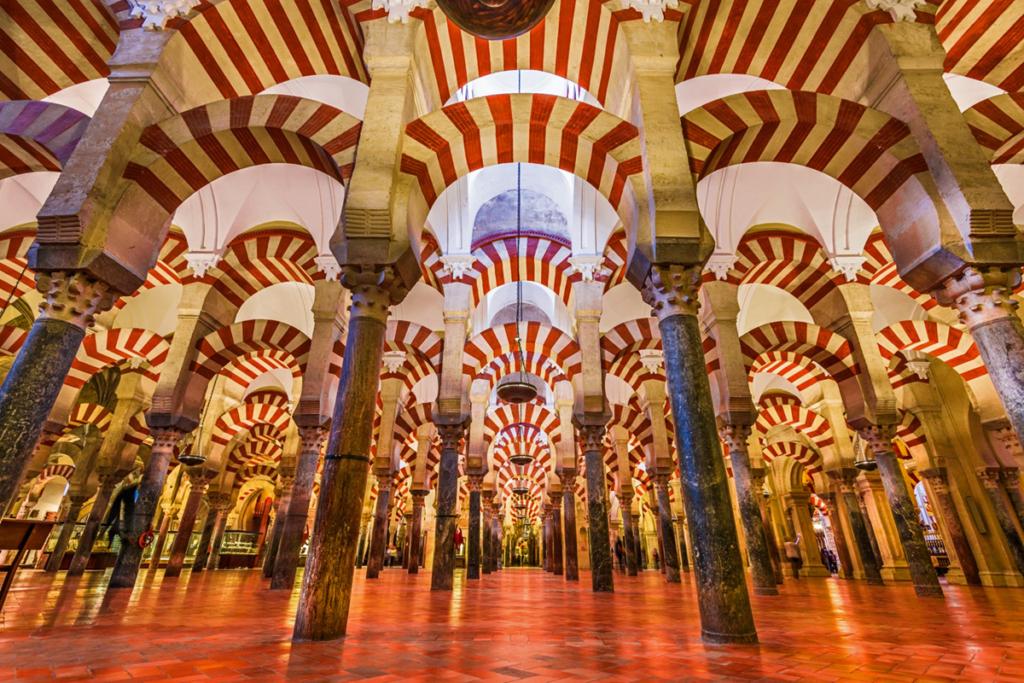 Diez monumentos emblemáticos españoles - primera parte, Mezquita Córdoba interior