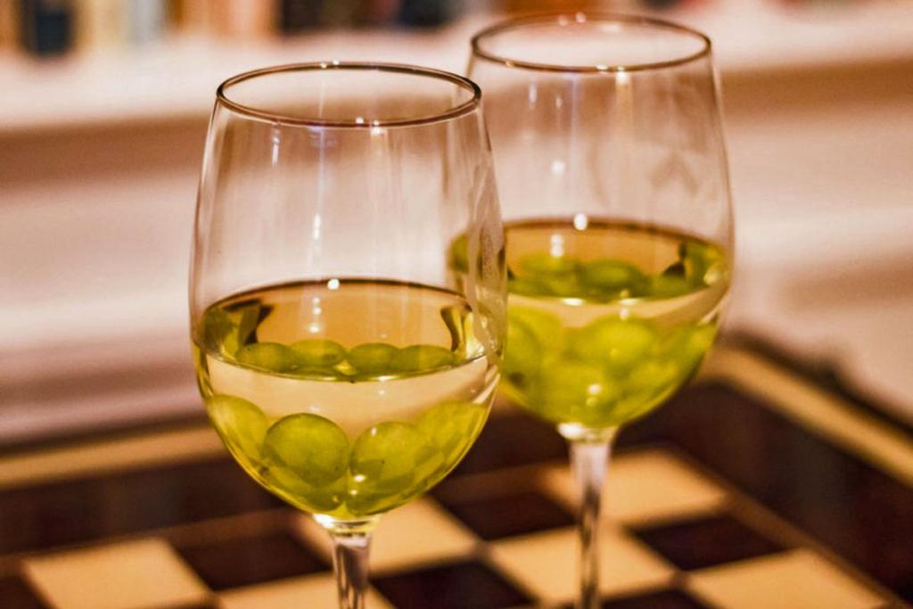 De picnic y con el vino bien frio