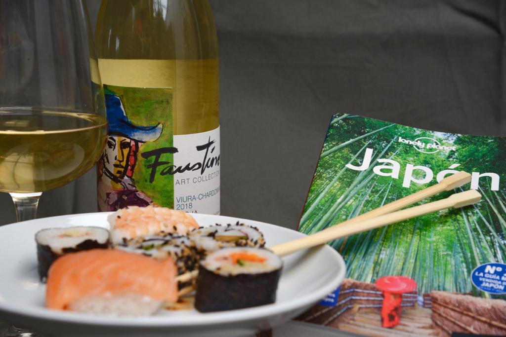 Sushi y el vino