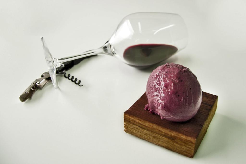Helados hechos con vino