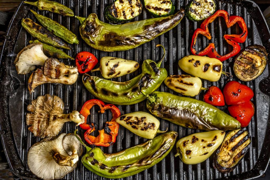 Barbacoa fin de verano, parrillada de verduras