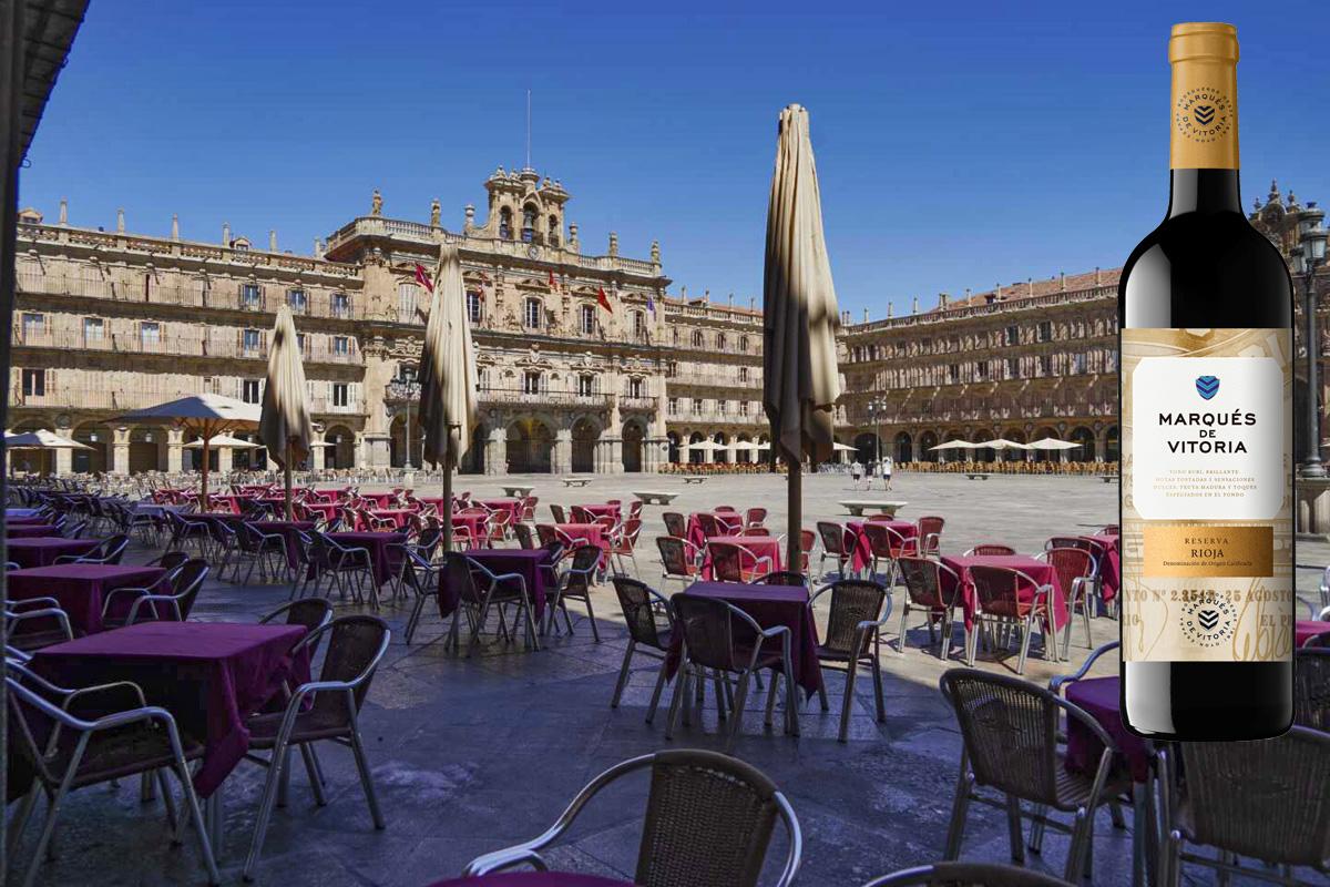 De vinos por la Plaza Mayor de Salamanca